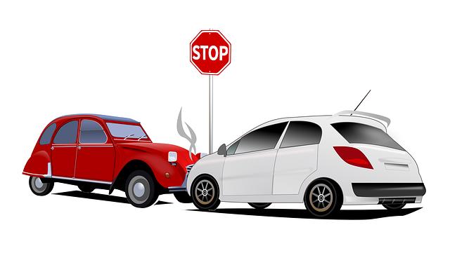 dopravní nehoda u značky